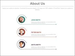 Three Tags Profiles For About Us Powerpoint Slides