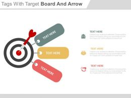 three_tags_with_target_board_and_arrow_powerpoint_slides_Slide01