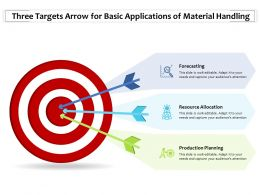Three Targets Arrow For Basic Applications Of Material Handling