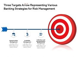 Three Targets Arrow Representing Various Banking Strategies For Risk Management