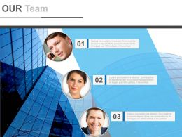 Three Team Business Team Analysis Powerpoint Slides
