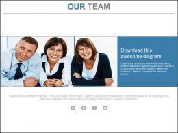 Three Team Members For Business Analytics Powerpoint Slides
