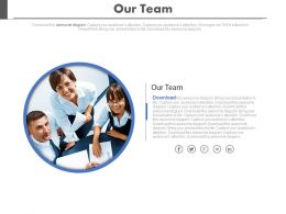 Three Team Members For Team Strategy Powerpoint Slides