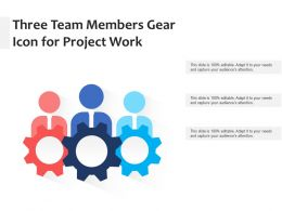 Three Team Members Gear Icon For Project Work