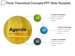 Three Theoretical Concepts Ppt Slide Template