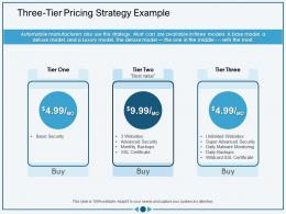 Three Tier Pricing Strategy Example Wildcard Ppt Powerpoint Presentation Icon Graphics Tutorials