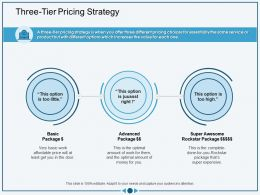 Three Tier Pricing Strategy Least Get Ppt Powerpoint Presentation Styles Information
