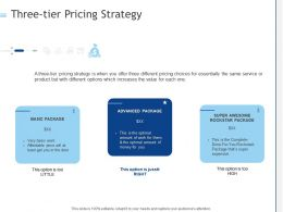 Three Tier Pricing Strategy Ppt Powerpoint Presentation Inspiration Pictures