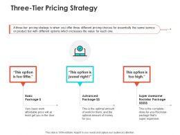 Three Tier Pricing Strategy Ppt Powerpoint Presentation Model File Formats
