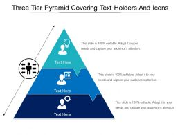 Three Tier Pyramid Covering Text Holders And Icons