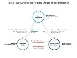 Three Tiered Architecture For Data Storage And Its Implication