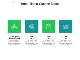 Three Tiered Support Model Ppt Powerpoint Presentation Layouts Graphics Template Cpb