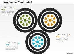 Three Tires For Speed Control Flat Powerpoint Design
