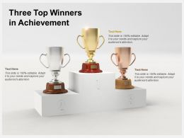 Three Top Winners In Achievement