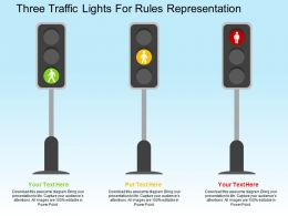 Three Traffic Lights For Rules Representation Flat Powerpoint Design