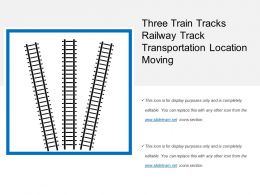 Three Train Tracks Railway Track Transportation Location Moving