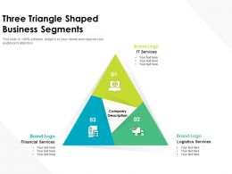 Three Triangle Shaped Business Segments