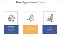 Three Types Access Control Ppt Powerpoint Presentation Outline Graphics Example Cpb