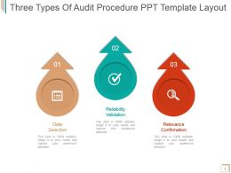 Three Types Of Audit Procedure Ppt Template Layout