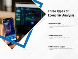Three Types Of Economic Analysis