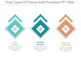 Three Types Of Finance Audit Procedure Ppt Slide