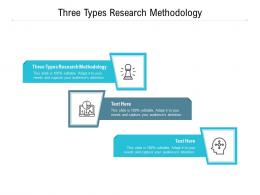 Three Types Research Methodology Ppt Powerpoint Presentation Icon Visuals Cpb