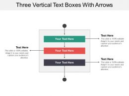 Three Vertical Text Boxes With Arrows