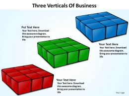 three verticals of business powerpoint Slides templates
