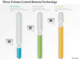 three_volume_control_buttons_technology_flat_powerpoint_design_Slide01