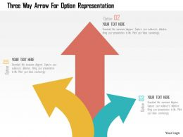 Three Way Arrow For Option Representation Flat Powerpoint Design