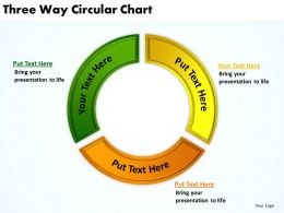three way circular chart powerpoint diagrams presentation slides graphics 0912