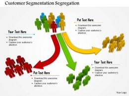 Three Way Customer Segmentation Ppt Graphics Icons