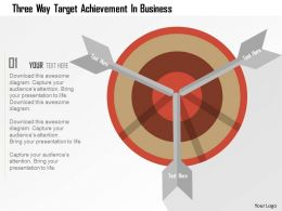 Three Way Target Achievement In Business Flat Powerpoint Design