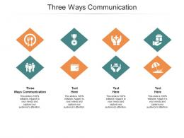 Three Ways Communication Ppt PowerPoint Presentation Summary Objects Cpb