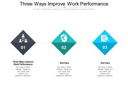 Three Ways Improve Work Performance Ppt Ideas Graphics Download Cpb