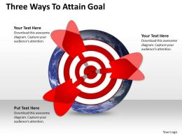 Three Ways To Attain Goal Powerpoint Slides Presentation Diagrams Templates