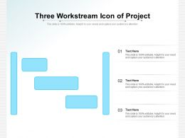 Three Workstream Icon Of Project