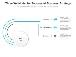Three Ws Model For Successful Business Strategy Infographic Template