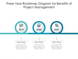 Three Year Roadmap Diagram For Benefits Of Project Management Infographic Template