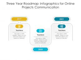 Three Year Roadmap For Online Projects Communication Infographic Template
