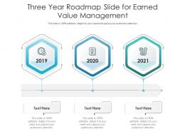Three Year Roadmap Slide For Earned Value Management Infographic Template