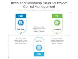 Three Year Roadmap Visual For Project Control Management Infographic Template
