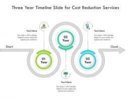 Three Year Timeline Slide For Cost Reduction Services Infographic Template