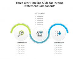 Three Year Timeline Slide For Income Statement Components Infographic Template