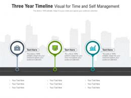 Three Year Timeline Visual For Time And Self Management Infographic Template
