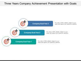 Three Years Company Achievement Presentation With Goals