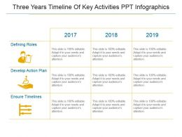 Three Years Timeline Of Key Activities Ppt Infographics