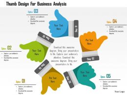 Thumb Design For Business Analysis Flat Powerpoint Design