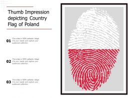 Thumb Impression Depicting Country Flag Of Poland
