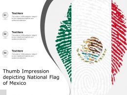 Thumb Impression Depicting National Flag Of Mexico